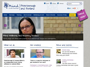Peterborough and Fenland Mind front page