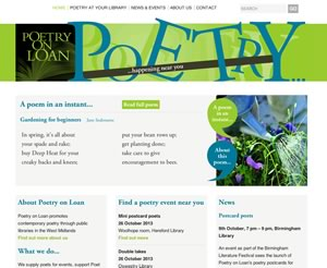 Poetry on Loan home page